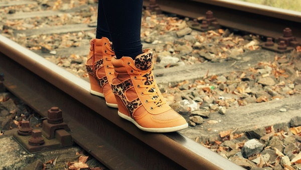 boots on rail line