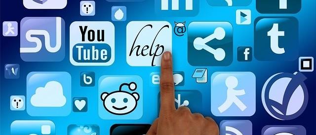 finger picking social media icons