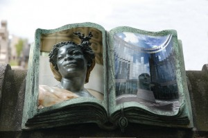Imagined Book in Paris cemetary