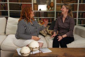 Telling Stories host Jules Carlysle & guest poet Ingrid Ruthig