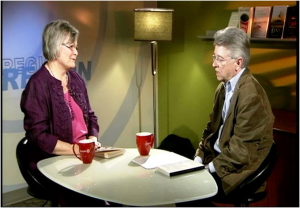 Ruth with Tom Taylor on Readers & Writers, Rogers TV